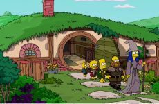 the hobbit opening de los simpsons