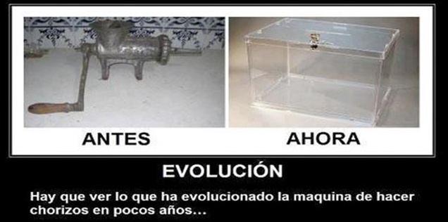 evolucion maquina hacer chorizos